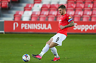 Portrait of Salford City defender Ash Eastham (5) during the EFL Sky Bet League 2 match between Salford City and Oldham Athletic at the Peninsula Stadium, Salford, United Kingdom on 31 October 2020.