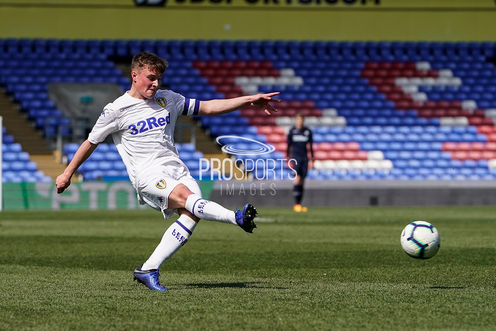 Leif Davis of Leeds United U23 in action during the U23 Professional Development League match between U23 Crystal Palace and Leeds United at Selhurst Park, London, England on 15 April 2019.