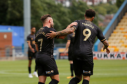 Alex MacDonald of Mansfield Town and Craig Davies of Mansfield Town celebrate Mansfield Town's first goal together - Mandatory by-line: Ryan Crockett/JMP - 28/07/2018 - FOOTBALL - One Call Stadium - Mansfield, England - Mansfield Town v Rotherham United - Pre-season friendly