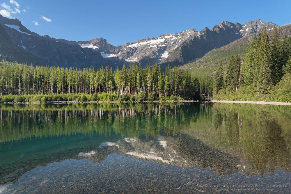 Kintla Peak seen from Upper Kintla Lake Glacier National Park