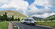 Our England Coast to Coast support van at Glenridding, Lake District National Park, Cumbria county, England, United Kingdom, Europe. England Coast to Coast hike with Wilderness Travel, day 5 of 14: Grasmere to Ullswater. [This image, commissioned by Wilderness Travel, is not available to any other agency providing group travel in the UK, but may otherwise be licensable from Tom Dempsey – please inquire at PhotoSeek.com.]