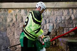 08.01.2012, Stadium Bezigrad, Ljubljana, SLO, EBEL, HDD Telemach Olimpija Ljubljana vs KAC Klagenfurt 40. Runde, in picture Anze Ropret of HDD Olimpija during the Erste Bank Ice Hockey League in 40th Round match between HDD Telemach Olimpija Ljubljana and KAC Klagenfurt at the open ice winter classic Stadium Bezigrad, Ljubljana, Slovenia on 2013/01/08. (Photo By Vid Ponikvar / Sportida.com)