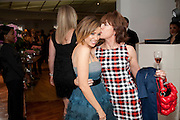DANNII MINOGUE; KATHY LETTE, Tea party in celebration of Project D by Dannii and Tabitha at Harvey Nicholls. Knightsbridge. London. 26 October 2010.  ( This is the launch of a fragrance by Dannii Minogue and Tabitha Somerset Webb ..) and -DO NOT ARCHIVE-© Copyright Photograph by Dafydd Jones. 248 Clapham Rd. London SW9 0PZ. Tel 0207 820 0771. www.dafjones.com.