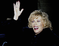 April 1, 2015 - Chicago, Illinois, United States of America - Chicago, Illinois 1986.Joan Rivers in Chicago. .Joan Alexandra Molinsky known as Joan Rivers, was an American actress, comedian, writer, producer, and television host noted for her often controversial comedic persona Ñ where she was alternately self-deprecating or sharply acerbic, especially toward celebrities and politicians..Rivers came to prominence in 1965 as a guest on The Tonight Show. Hosted by her mentor, Johnny Carson, the show established Rivers' comedic style. In 1986, with her own rival program, The Late Show with Joan Rivers, Rivers became the first woman to host a late night network television talk show. She subsequently hosted The Joan Rivers Show (1989Ð1993), winning a Daytime Emmy for Outstanding Talk Show Host.Credit: Mark Reinstein (Credit Image: © Mark Reinstein via ZUMA Wire)