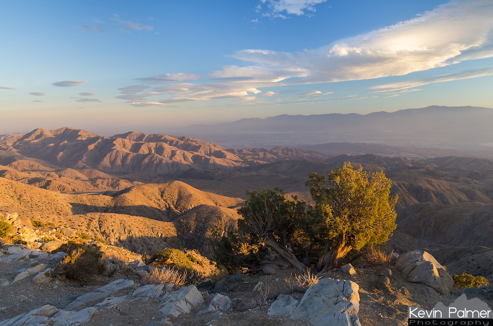 Keys View in Joshua Tree National Park is a great place to watch a sunset. You can see 5,000 feet below to the Palm Springs area, the Salton Sea, and the San Andreas Fault.<br /> <br /> Date Taken: August 19, 2014