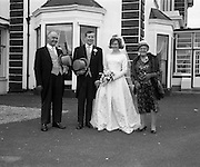 222/08/1963<br /> 08/22/1963<br /> 22 August 1963<br /> Wedding of Frank McKevitt and Frances Emmett. Mr. Frank McKevitt, 32 Celtic Park Avenue, Drumcondra, Dublin, a prominent member of the Rathmines and rather Musical Society, and a Personnel Executive at Telefís Éireann was married to Miss Frances Emmett, 2. Great Western Square, Phibsboro, Dublin, at Christ the King Church, Cabra, Dublin, with reception at the Claremont Hotel, Howth.