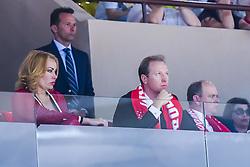 June 3, 2018 - Monaco, France - Sergei Dyadechko (president de Monaco Basket) et sa femme - SAS le prince Albert de Monaco (Credit Image: © Panoramic via ZUMA Press)