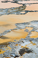Terraced travertine deposits near Great Fountain Geyser, Yellowstone National Park
