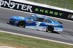July 20, 2018 - Loudon, NH, U.S. - LOUDON, NH - JULY 20: Elliott Sadler, driver of the #1 OneMain Financial Chevy during practice for the Lakes Region 200 Xfinity Series race on July 20, 2018, at New Hampshire Motor Speedway in Loudon, NH. (Photo by Malcolm Hope/Icon Sportswire) (Credit Image: © Malcolm Hope/Icon SMI via ZUMA Press)