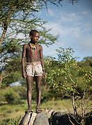 Saitoti, a young hunter. At the Hadza camp of Dedauko.