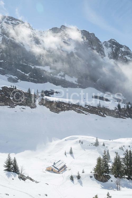 Refuge De Bostan in the Vallée de la Manche in Morzine / Portes du Soleil ski area on 22nd March 2017 in France