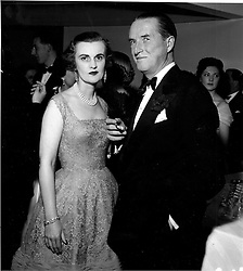 MARGARET, DUCHESS OF ARGYLL and her husband the DUKE OF ARGYLL in 1955.  AHD 4<br />  <br /> www.donfeatures.com   photos@donfeatures.com<br /> MINIMUM REPRODUCTION FEE AS AGREED.<br /> PHOTOGRAPH BY DESMOND O'NEILL