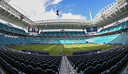 Inside view of the Hard Rock Stadium before the International Champions Cup match between Real Madrid and FC Barcelona at the Hard Rock Stadium, Miami on 29 July 2017.