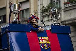 April 30, 2018 - Barcelona, Catalonia, Spain - Andres Iniesta during the FC Barcelona Victory Parade at the streets of Barcelona on 30 of April of 2018 in Barcelona. (Credit Image: © Xavier Bonilla/NurPhoto via ZUMA Press)