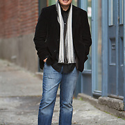 Author Jamie Ford at Canton Alley in Seattle's International District.