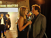 ANGELICA RUSSO; Italian/Hollywood director Gabriele Muccino, The launch of the Peroni Nastro Azzurro Accademia del Film Wrap Party Tour. Brick Lane. 25 August 2010. -DO NOT ARCHIVE-© Copyright Photograph by Dafydd Jones. 248 Clapham Rd. London SW9 0PZ. Tel 0207 820 0771. www.dafjones.com.