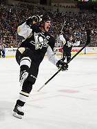 PITTSBURGH, PA - NOVEMBER 25:  Sidney Crosby #87 of the Pittsburgh Penguins celebrates his goal during the first period against the St. Louis Blues at Consol Energy Center on November 25, 2015 in Pittsburgh, Pennsylvania.  (Photo by Joe Sargent/NHLI via Getty Images) *** Local Caption ***