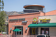 Starbucks Coffee and Hungry Howie's Pizza at Route 66 Promenade in Glendora