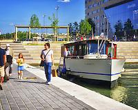 """Il Vaporetto"" sailing along the Saone, Lyon - France"