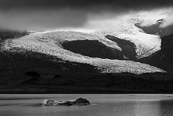 The glacier, Hrutarjokull, south east of Iceland - Hrútárjökull við Fjallsárlón, jakar og landslag