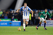 Huddersfield Town's Laurent Depoitre during the Premier League match between Huddersfield Town and West Bromwich Albion at the John Smiths Stadium, Huddersfield, England on 4 November 2017. Photo by Paul Thompson.