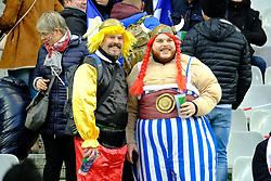 February 3, 2018 - Saint Denis, Seine Saint Denis, France - The fan's of French Team during the NatWest Six Nations Rugby tournament between France and Ireland at the Stade de France - St Denis - France.Ireland Won 15-13 (Credit Image: © Pierre Stevenin via ZUMA Wire)