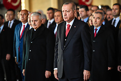 November 10, 2018 - Ankara, Turkey - Turkey's President Recep Tayyip Erdogan attends a ceremony at the mausoleum of Mustafa Kemal Ataturk, the founder of modern Turkey, to commemorate his 80th death anniversary in Ankara, Turkey, Nov. 10, 2018. (Credit Image: © Depo Photos via ZUMA Wire)