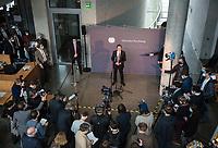 DEU, Deutschland, Germany, Berlin, 28.01.2021: Deutscher Bundestag, Bundesverkehrsminister Andreas Scheuer (CSU) bei einem Pressestatement vor seiner Befragung als Zeuge im Untersuchungsausschuss zur PKW-Maut.