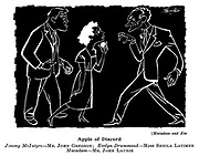 At the Play ;  Aldwych<br />  Theatre ; Macadam and Eve ;  John Gregson , Sheila Latimer and John Laurie