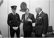 Ray Burke with Garda