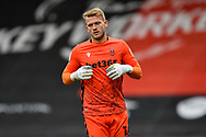 Adam Davies (16) of Stoke City during the EFL Sky Bet Championship match between Bournemouth and Stoke City at the Vitality Stadium, Bournemouth, England on 8 May 2021.