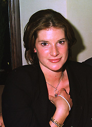 The HON.SELINA TOLLEMACHE at a dinner in London on 30th September 1998.MKK 47