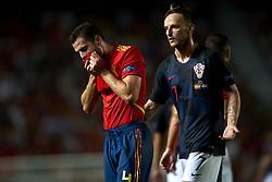 September 11, 2018 - Elche, Spain - Nacho of Spain  and Ivan Rakitic of Croatia during the UEFA Nations League football match between Spain and Croatia at Martinez Valero Stadium in Elche, Spain on September 11, 2018. (Credit Image: © Jose Breton/NurPhoto/ZUMA Press)