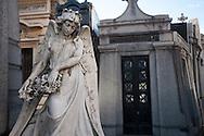 In the monumental cemetery of Recoleta