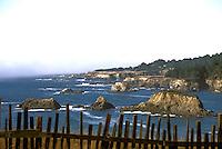 Looking north along the Mendocino coast headlands, Mendocino California