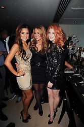 Left to right, CHERYL COLE, KIMBERLEY WALSH and NICOLA ROBERTS at the launch party for 'Promise', a new capsule ring collection created by Cheryl Cole and de Grisogono held at Nobu, Park Lane, London on 29th September 2010.