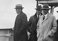 H926 Retired Boxer Gene Tunney loking for his first glimpse of Ireland on his way to Dublin by boat. 24th August 1928. (Part of the Independent Newspapers Ireland/NLI Collection)