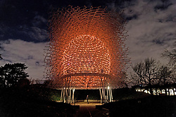 © Licensed to London News Pictures. 22/11/2016. Wolfgang Butress's Hive installation at the Christmas Lights Festival at Kew Garden. London, UK. Photo credit: Ray Tang/LNP