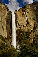 Bridalveil Fall in spring, above Yosemite Valley, Yosemite National Park, California