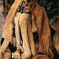A Chachapoyan (pre-Incan) mummy at the cultural museum in Chachapoyas.