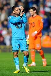 Aaron Lennon (ENG) of Tottenham Hotspur looks frustrated with a draw as he applauds the travelling support - Photo mandatory by-line: Rogan Thomson/JMP - 07966 386802 - 12/04/2014 - SPORT - FOOTBALL - The Hawthorns Stadium - West Bromwich Albion v Tottenham Hotspur - Barclays Premier League.