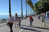 Paseo maritimo, esplanade, promenade, Marbella, Costa del Sol, Spain, travel, holidays, tourism, 201212081048..Copyright Image from Victor Patterson, 54 Dorchester Park, Belfast, UK, BT9 6RJ..Tel: +44 28 9066 1296.Mob: +44 7802 353836.Voicemail +44 20 8816 7153.Skype: victorpattersonbelfast.Email: victorpatterson@me.com.Email: victorpatterson@ireland.com (back-up)..IMPORTANT: If you wish to use this image or any other of my images please go to www.victorpatterson.com and click on the Terms & Conditions. Then contact me by email or phone with the reference number(s) of the image(s) concerned.