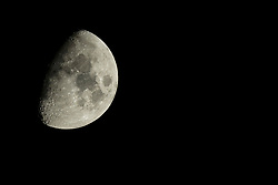 2020 September 25: Half Phase moon.