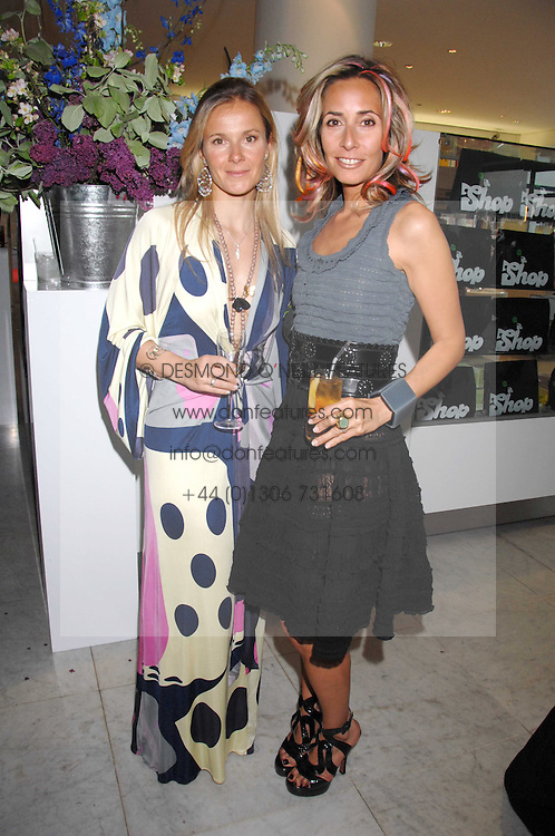 Left to right, JULIETTA TENNANT and TARA ARCHER at a reception hosted by Vogue magazine to launch photographer Tim Walker's book 'Pictures' sponsored by Nude, held at The Design Museum, Shad Thames, London SE1 on 8th May 2008.<br /><br />NON EXCLUSIVE - WORLD RIGHTS