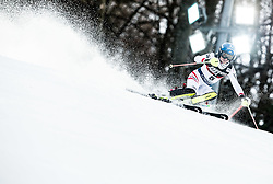 """Bernadette Schild (AUT) competes during 1st Run of FIS Alpine Ski World Cup 2017/18 Ladies' Slalom race named """"Snow Queen Trophy 2018"""", on January 3, 2018 in Course Crveni Spust at Sljeme hill, Zagreb, Croatia. Photo by Vid Ponikvar / Sportida"""
