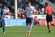 Bobby Duncan of England (15) goes close with a shot during the UEFA European Under 17 Championship 2018 match between England and Italy at the Banks's Stadium, Walsall, England on 7 May 2018. Picture by Mick Haynes.