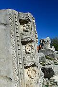 Detail of carving, Roman ruins, Nin, Croatia