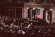 President Herburt Walker Bush gives the state pof the Union Address in January 1992...Photograph by Dennis Brack BBBs 20