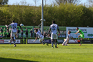 Forest Green Rovers Liam Noble(15) shoots at goal during the Vanarama National League match between Forest Green Rovers and Maidstone United at the New Lawn, Forest Green, United Kingdom on 22 April 2017. Photo by Shane Healey.
