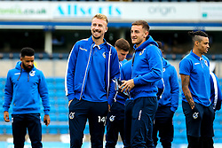 Chris Lines of Bristol Rovers and Tom Lockyer of Bristol Rovers arrives at Adams Park for the Sky Bet League One fixture against Wycombe Wanderers - Mandatory by-line: Robbie Stephenson/JMP - 18/08/2018 - FOOTBALL - Adam's Park - High Wycombe, England - Wycombe Wanderers v Bristol Rovers - Sky Bet League One